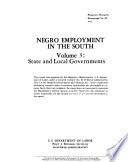 Negro employment in the South