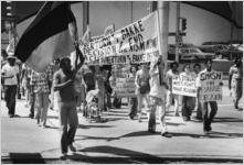 Protests against the U.S. Supreme Court's ruling against affirmative action programs in Regents of the University of California v. Bakke, Atlanta, Georgia, April 9, 1978