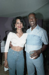 Donald Bohana and an unidentified woman at his birthday party, Los Angeles, 1989
