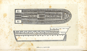 Decks of a slave ship from The history of slavery and the slave trade, ancient and modern.