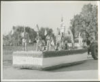 Boyscouts parade float
