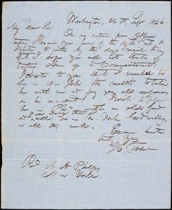 Thumbnail for Letter from Hopeful Toler, Washington, [D.C.], to Amos Augustus Phelps, 1846 Sept[ember] 21st