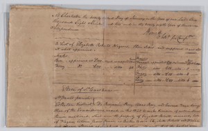 Document on distribution of six enslaved persons owned by Elizabeth Roberts
