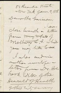 Letter from Aaron Macy Powell, 58 Reade Street, New York, to William Lloyd Garrison, Jan. 9, 1878