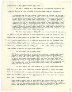 Memorandum on the Smith-Towner Bill (HR 7)