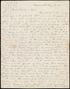 Thumbnail for Letter from Anne Warren Weston, Weymouth, [Mass.], to Henry Grafton Chapman and Maria Weston Chapman, May 18, 1841