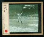 Leslie Mann Baseball Lantern Slide, No. 100