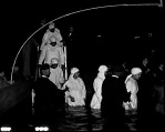 Congregants Led to...Baptismal Tanks in Griffith Stadium... [Elder Michaux and Church of God] [cellulose acetate photonegative]