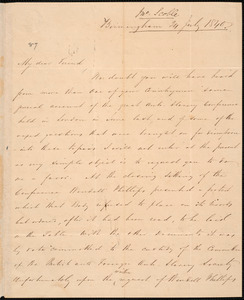 Letter from John Scoble, Birmingham, to Amos Augustus Phelps, 24 July 1840