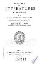 Histoire des littératures étrangères...