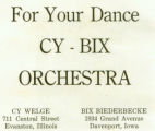 Advertisement for the Cy - Bix Orchestra, Lake Forest Academy Yearbook, 1922