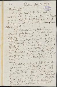 Letter from Richard Davis Webb, Dublin, [Ireland], to William Lloyd Garrison, 1846 Sept[ember] 29