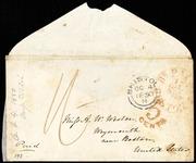 Envelope to] Miss A. W. Weston [manuscript