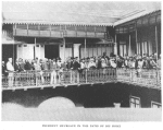 President Herueaux in the patio of his home