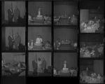 Set of negatives by Clinton Wright including Mr. Bett's visit to Las Vegas, Jo Mackey's Negro History program, and Earl Swift's barber shop, 1971