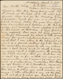 Letter from Edward Royal Tyler, Middletown, [Connecticut], to Amos Augustus Phelps, 1838 March 8