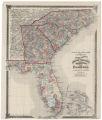 County map of North Carolina, South Carolina, Georgia and Florida At head of title: Atlas of the United States