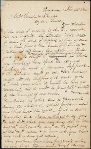 Thumbnail for Letter from Henry Egbert Benson, Providence, [Rhode Island], to Willaim Lloyd Garrison and Isaac Knapp, 1832 Nov[ember] 23d