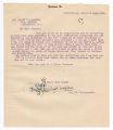 A. H. Ackley letter to Warren G. Harding, December 24, 1919