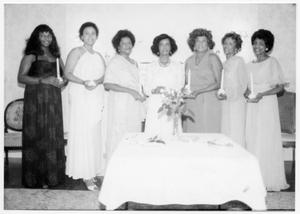 Women in Formal Attire Holding Candles San Antonio Chapter of Links Records