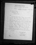 Photograph of letter from A.C. Frost, American Consul to Guatemala, telling of Clara Phillips' arrest, circa 1923