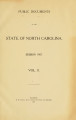 Public documents of the State of North Carolina [1907 v.2]