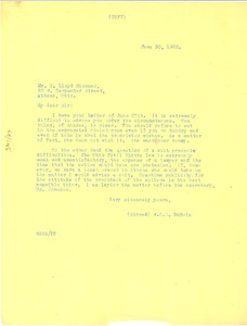 Letter from W. E. B. Du Bois to T. Lloyd Hickman