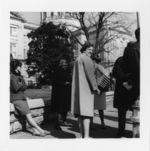 Mississippi State Sovereignty Commission photograph of a group of African American and white women standing in front of the Georgia State Capitol during a demonstration, Atlanta, Georgia, 1960s