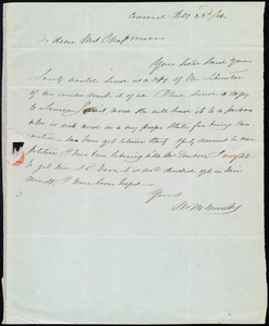 Letter from Mary Merrick Brooks, Concord, [Mass.], to Maria Weston Chapman, Feb'y 23'd / [18]46