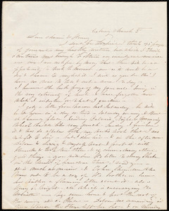 Letter from Caroline Weston, Roxbury, [Mass.], to Maria Weston Chapman and Henry Grafton Chapman, March 3'd, [1841]