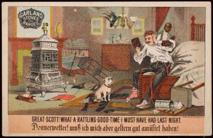 Trade card, Garland Stoves and Ranges, The Michigan Stove Company, Detroit, Michigan; Chicago, Illinois, Buffalo, New York