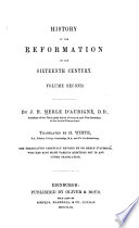 History of the Reformation of the sixteenth century /