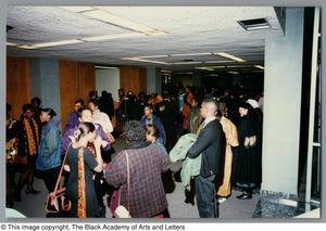 Photograph of Hallelujah Hip Hop attendees and performers Christmas/Kwanzaa Concert Hallelujah Hip Hop Concert, December 1995