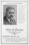 Committee of Arrangement; Order of Exercises; Arthur A. Schomburg, Chairman