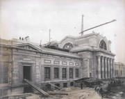 View of construction of the Palace of Art from the southwest at the 1904 World's Fair site, 18 December 1903.
