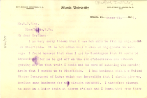 Letter from W. E. B. Du Bois to R. P. Sims
