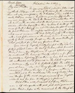 Letter from Beriah Green, Whitesboro, to Amos Augustus Phelps, Nov. 3. 1843
