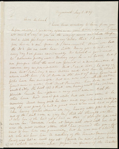 Letter from Anne Warren Weston, Weymouth, [Mass.], to Deborah Weston, May 1, 1839