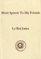 Short Speech to My Friends