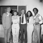 Donald Bohana and others posing on a patio, Los Angeles, ca. 1978