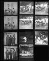 Set of negatives by Clinton Wright including Joyce McBride's party, Marcus, Bishop William, George Ward, and Kit Carson Summer Activities, 1968