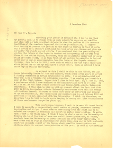Letter from W. E. B. Du Bois to Carnegie Foundation