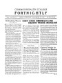 Commonwealth College Fortnightly, Vol. 12, No. 24, December 15, 1936; On Studying Theory; Liberty Exposes Commonwealth After Exhaustive Two-Hour Investigation!; Classes Combine for Union Local Meeting; The Negro Question; Inquiring Reporter: How Do You Like Your Classes; Religion in the Soviet; Campus Notes; Half the Population; Graduation Speech Commonwealth College, 1936