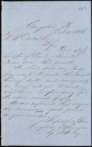 Leighton & Sherman (W.F. Joy), Georgetown, manuscript letter signed to Ziba B. Oakes, 10 October 1856