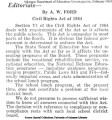 Editorial on Civil Rights Act of 1964