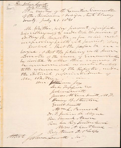 Letter from Joshua Leavitt, New York, to Amos Augustus Phelps, July 23, 1841