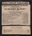 Columbus Theatre, Human slave (August 6, 1905) Human slave