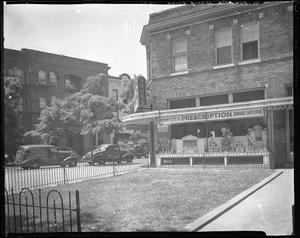 Pinkett's Drug Store, '39 [exterior : cellulose acetate photonegative]