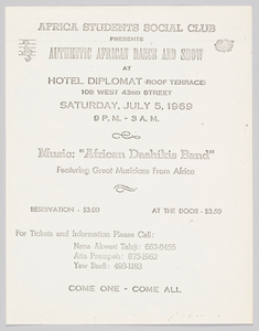 Flyer Advertising an African Dance and Show