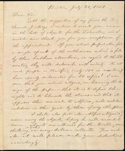 Letter from William Lloyd Garrison, Boston, [Mass.], to Henry Egbert Benson, July 30, 1831